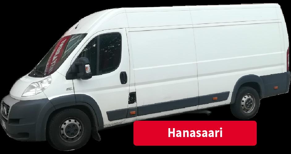 Pakettiauton vuokraus Hanasaari