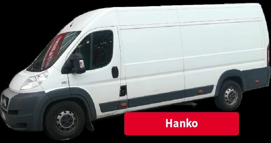 Pakettiauton vuokraus Hanko