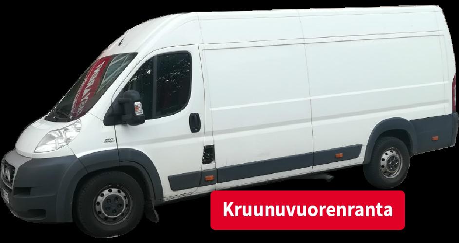 Pakettiauton vuokraus Kruunuvuorenranta