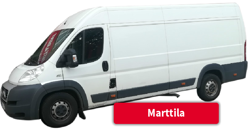 Pakettiauton vuokraus Marttila